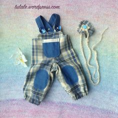 """OOAK Waldorf doll's bib pants / Doll clothes / Outfit for 16"""" - 18"""" dolls /  Doll's bib trousers / Doll's pants / Trousers for doll"""