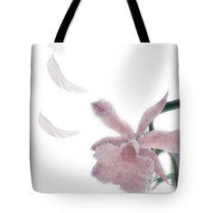 Elegant pink brocade-texture flower and feathers tote bag. Original design by vivien jane c