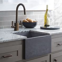 Kitchen Sink Native Trails Bar Sink Ventana NativeStone Bar and Prep Sink - Apron Sink Kitchen, Prep Kitchen, Farmhouse Sink Kitchen, Kitchen Sink Faucets, Kitchen Tops, Kitchen Fixtures, Kitchen And Bath, Kitchen Decor, Bathroom Sinks