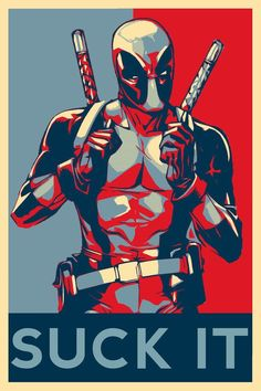 POSTER marvel comics deadpool obey obama style wall art print by Marvel Comics, Hq Marvel, Poster Marvel, Deadpool Comics, Deadpool Quotes, Deadpool Stuff, Deadpool Movie, Deadpool Theme, Deadpool Gifts