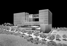 Gallery of Chungwoon University Library / Hyunjoon Yoo Architects & DANU - 17 Library Architecture, Cultural Architecture, Concept Architecture, Landscape Architecture, Landscape Design, Architecture Design, Architecture Diagrams, Architecture Portfolio, Hospital Design