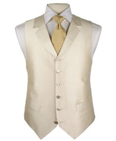 White and Gold Wedding. Groom and Groomsmen. Ivory waistcoat, gold cravat