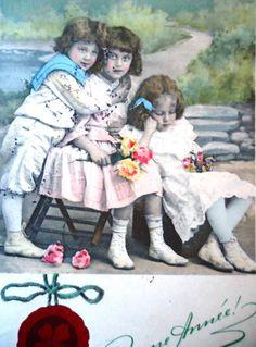 Grete Reinwald postcard Grete sister Hanni boy by LizKnijnenburg