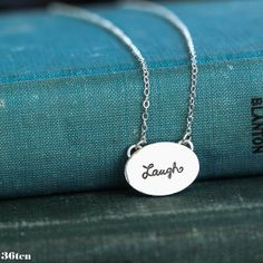 Laugh Sterling Silver Necklace by 36ten on Etsy, $72.00
