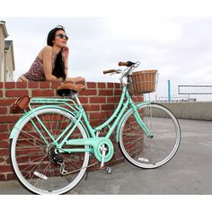 Nadine 7-Speed Women's Cruiser Bike in Pearl Mint - Bikes are some of the best way's to Travel !
