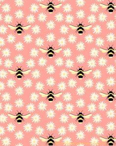 seamless #bee #pattern