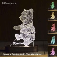 55 Best Gifts for Girlfriend My Photo Print /MyPhotoPrint Gifts For Gf, Best Gifts, Custom Teddy Bear, Best Gift For Girlfriend, Color Changing Led, Color Change, Illusions, Optical Illusions