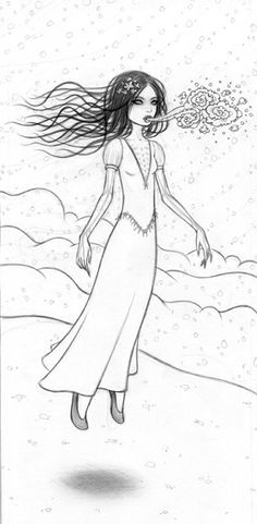 snow bride drawing / tara mcpherson