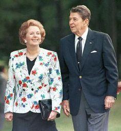 Margaret Thatcher and President Reagan
