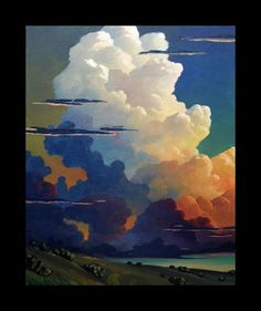 Impressionist Art Oil Landscape Storm Sky  Clouds  by ARTpaco    ...BTW,Please Check this out:  http://artcaffeine.imobileappsys.com