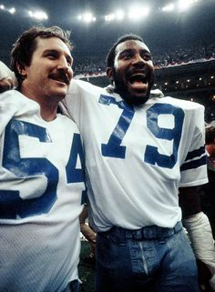 Randy White and Harvey Martin, Dallas Cowboys Co MVPs in Supper Bowl 12.