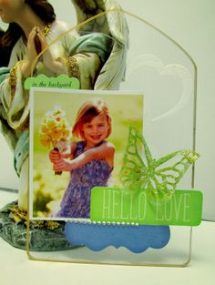 Clear cast acrylic frame created by Monica- using Butterfly Mixers. http://www.clearscraps.com/product_p/csactriregular.htm