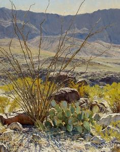 Desert Autumn by Mark Haworth Oil ~ 30 x 24 Paintings I Love, Beautiful Paintings, Beautiful Landscapes, Oil Paintings, Watercolor Paintings, Watercolor Landscape, Landscape Art, Landscape Paintings, Cactus Painting
