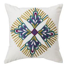 "Boho Boutique™ Luca Embroided Decorative pillow  - 16x16"""