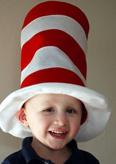 this is toddler sized hat  how to make a cat in the hat hat. Now I need to find someone to make it.