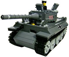 Custom LEGO Military Vehicle Model Set For Soldier Minifigures Tiger 1 Tank