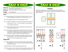 Half N Half: Improper Fractions Games and Mixed Numbers Games