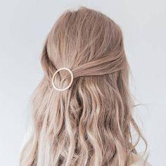 Gold circle hair clip