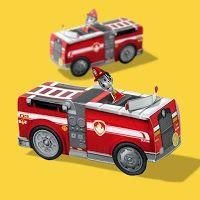 Marshall de Paw Patrol: Camión de Bomberos 3D de Papel, Para Imprimir Gratis.