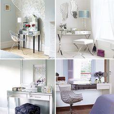 Decoração: penteadeira espelhada - Blog Só Para Meninas: moda, beleza, decoração e + dicas ;)
