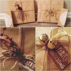Holiday Christmas gift wrapping