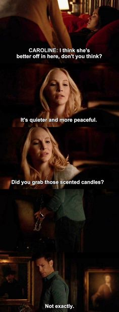 The Vampire Diaries TVD 7X21 - Caroline & Ric