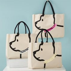 Sequin Collar Dog Tote The perfect tote for all our fur mamas! Dog Tote bag with sequin collar and handles that make adorable ears! Monogram Tote Bags, Canvas Tote Bags, Canvas Totes, Sac Lunch, Dog Tote Bag, Messenger Bags, Tote Purse, Patchwork Bags, Crazy Patchwork