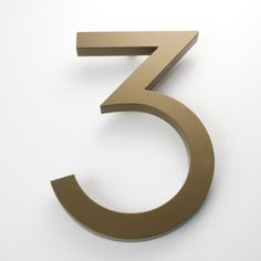 Modern House Number Bronze Color Aluminum Modern Font Number Eight
