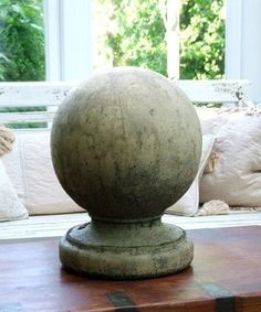 Ball Finial Ball Finial.These products are hand-made by skilled English craftsmen using local reconstituted stone and traditional methods.They have been made in this way for the past 45 years.The hardiness of their construction enables outdoor display wha…