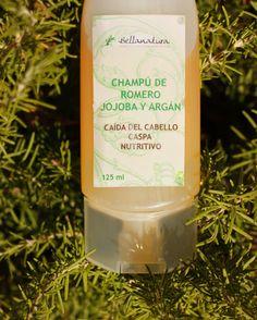 Natural Rosemary & Jojoba Shampoo.  Champú Natural de jojoba y romero.