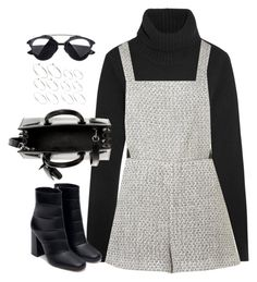 """""""Untitled#4270"""" by fashionnfacts ❤ liked on Polyvore featuring Michael Kors, Topshop, Zara, Yves Saint Laurent and ASOS"""