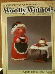 PDF Woolly Wotnots Knitting Pattern – Mother Christmas by Anne Carol Creations. 036 high figure) by DorothyLauderArt on Etsy Christmas Cover, Christmas Makes, Christmas Toys, Christmas Knitting, Christmas Ideas, Vintage Knitting, Free Knitting, Knitting Patterns, Knitted Dolls