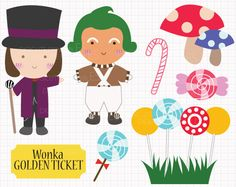 willy wonka and the chocolate factory clip art wonka candy kit on rh pinterest com Willy Wonka Logo Willy Wonka Hat
