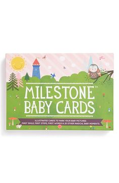 Free shipping and returns on Milestone Baby Cards Illustrated Cards (Set of 30) at Nordstrom.com. An assortment of cards featuring fun illustrations of your little one's big moments—including first smile, first steps, first words and more—makes for a scrapbook-ready addition to milestone photos.