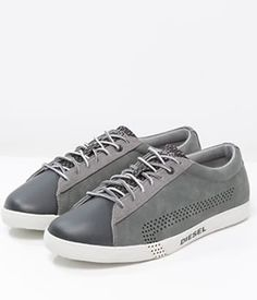 Tenisi Piele Intoarsa Diesel Gri barbati Diesel, Sneakers, Shoes, Fashion, Tennis, Trainers, Moda, Zapatos, Shoes Outlet