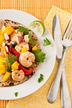 Gulf Shrimp Tacos with Mango Salsa by foodiebride, via Flickr