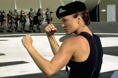Dina Meyer....cheesy as hell Starship Troopers...but I'd totally pick her to be on my side while fighting alien arachnids.