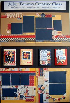 layouts and cards by Diana Veenendaal using CTMH Tommy paper