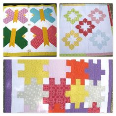 Fat Quarter Baby Quilt Gallery Valerie has to thank Beatriz, one of her students,  for the introduction to It's So Emma's Fat Quarter Baby Book and now we love this – we think you will too  They have been busy making lots of the quilts and here are just a few. #quilting #books #fatquarter #babyquilts #cribquilts Fat Quarters, Show And Tell, Love Is All, Quilt Making, Baby Quilts, Quilting, Students, Gallery, Creative