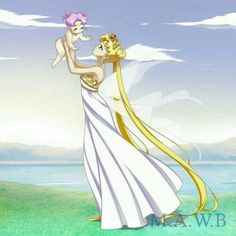 Neo reina con Rini bebé