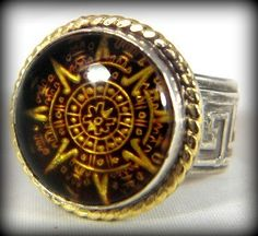Men's  Ring Amber gold and silver ring Unisex silver by Marajoyce, $180.00