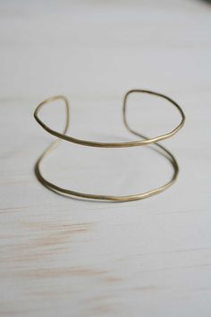 METAL SMITH/ Hollow Cuff Brass