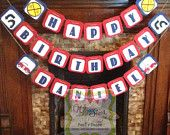 """Do you have a little guy that Loves all things that """"GO""""! This Birthday Banner Set is made to make a statement. Pendants are each and will easily take up a 4 foot space when hung. Perfect for your cake table/gift table and is a perfect keepsake. Happy Birthday Boy, Blue Birthday, Custom Birthday Banners, Happy Birthday Banners, Gift Table, Cake Table, Event Banner, Party Stores, 4th Of July Wreath"""