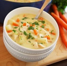 Cheesy Chicken and Potato Chowder. Click image for recipe.