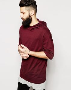 ASOS+Longline+T-Shirt+With+Hood+And+Oversized+Fit