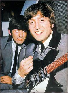 The Beatles - George and John, 1964