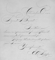 Earl A. Lupfer - Spencerian Script