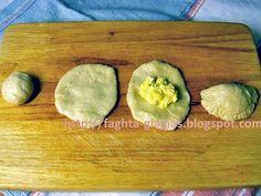 Τυροπιτάκια με αφράτη ζύμη - από «Τα φαγητά της γιαγιάς» Baked Potato, Pickles, Cucumber, Avocado, Baking, Fruit, Ethnic Recipes, Party, Food