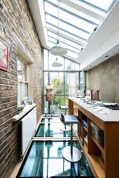 glazed london extension roof workspace -- Article ideas / Terrace Ideas For Articles on Best of Modern Design - So many good things! House Extension Design, House Design, Glass Roof Extension, Side Extension, Sas Entree, Lean To Conservatory, Pergola Attached To House, Victorian Terrace, Victorian London