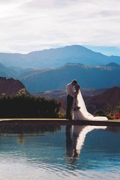 mountain lake wedding photography ideas